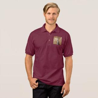 Camisa Polo Pólo da capa do carro dos homens