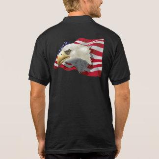 Camisa Polo Pólo de Eagle do americano