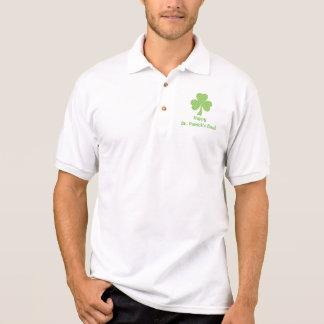 Camisa Polo Pólo do dia do St. Patricks das bolinhas do trevo