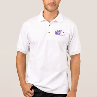 Camisa Polo Pólo do jérsei do Gildan dos homens do logotipo da