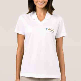 Camisa Polo Pólo do logotipo do TACO do piqué do Dri-AJUSTADO