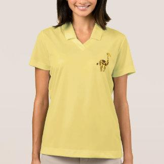 Camisa Polo Pólo do piqué de Nike de mulheres amarelas do
