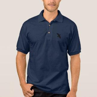 Camisa Polo Pólo dos homens (azuis marinhos)