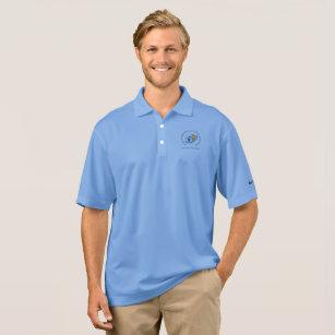 Camisa Polo Pólo dos homens de Nike do logotipo da escola 3a03182365948