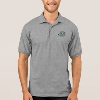Camisa Polo Pólo Golfing do monograma do golfe do amor do pai