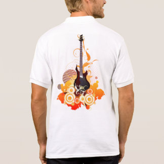 Camisa Polo Pólo moderno do branco da guitarra