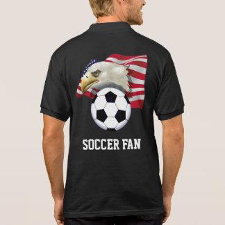 Camisa Polo Pólo patriótico do fã de futebol