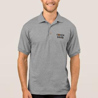 Camisa Polo Pólo personalizado do treinador de beisebol