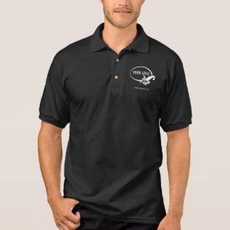 Camisa Polo Pólo preto do negócio dos homens com logotipo