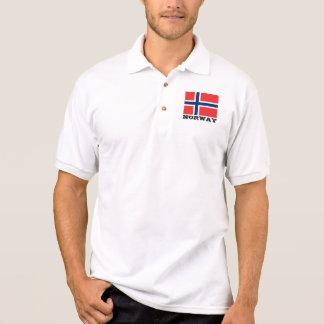 Camisa Polo Pólos feitos sob encomenda da bandeira de Noruega