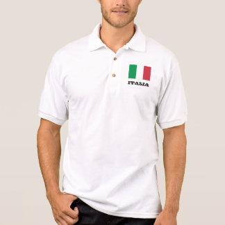 Camisa Polo Pólos feitos sob encomenda da bandeira italiana
