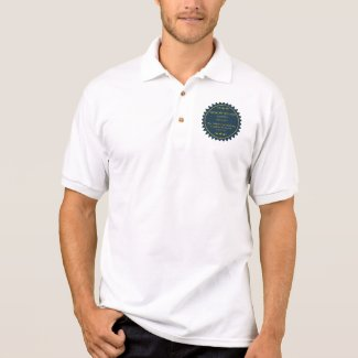 Camisa Polo Psalms 23 in Hebrew and English