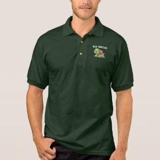 Camisa Polo Riso da ilustração da tartaruga bonito