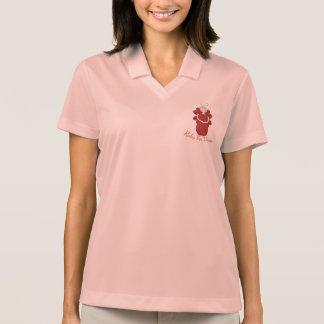 Camisa Polo Rubi para o anjo do vermelho das mulheres