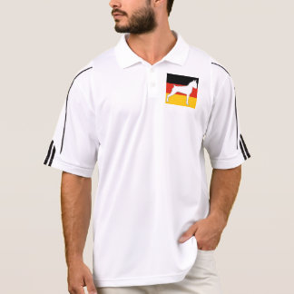 Camisa Polo silo do pugilista no branco da bandeira