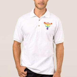 Camisa Polo Símbolo do transporte do Transgender com o emblema