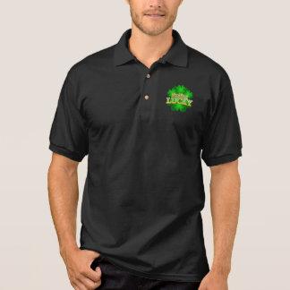 Camisa Polo T-shirt escuro do colar dos homens afortunados de