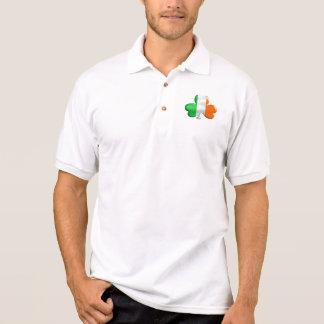 Camisa Polo T-shirt irlandeses do trevo da bandeira