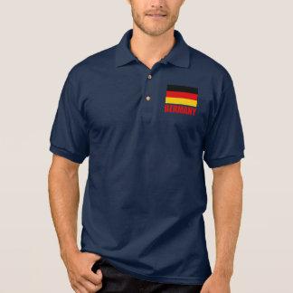 Camisa Polo Texto do vermelho da bandeira de Alemanha