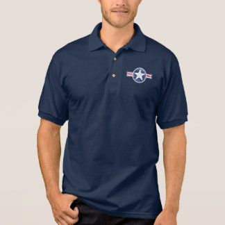 Camisa Polo Vintage do corpo de ar do exército