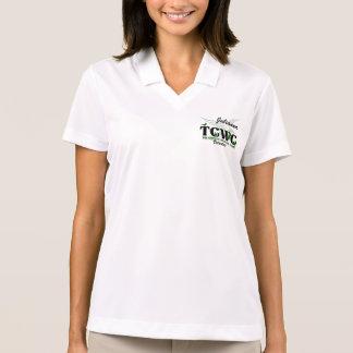 Camisa Polo Voluntário do logotipo de TCWC - nome feito sob