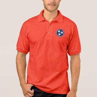 Camisa Polo Voluntários da bandeira da estrela de Tennessee