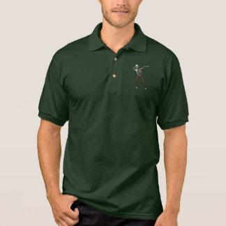 Camisa Polo Zombi de toque ligeiro legal bonito do Dia das