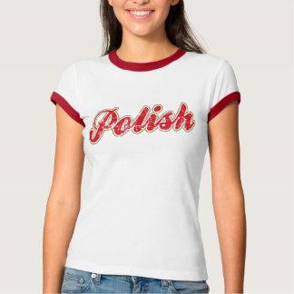 Camisa polonesa do logotipo t