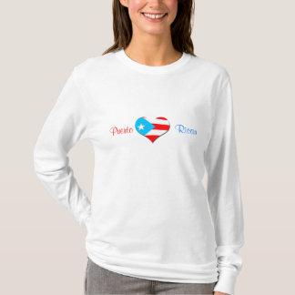 Camisa porto-riquenha das senhoras do coração