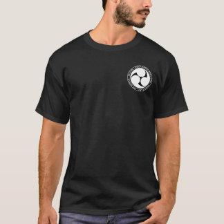 Camisa preta & branca do reino de Ryukyu do selo