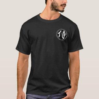 Camisa preta & branca do samurai do selo