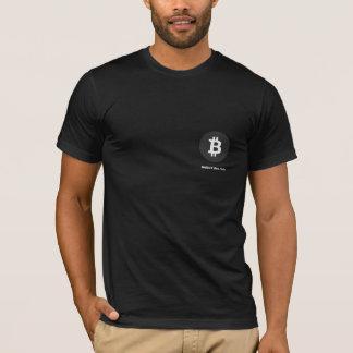 Camisa preta de Bitcoin