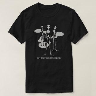Camisa preta dos aliens ambientais das abstracções