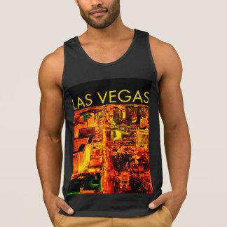 Camisa preta dos homens das luzes de Las Vegas