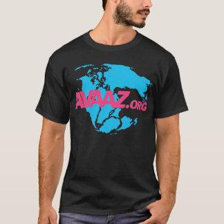 Camisa preta - logotipo cor-de-rosa/parte traseira