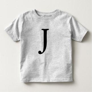 Camisa preta monogrammed da inicial t da letra J