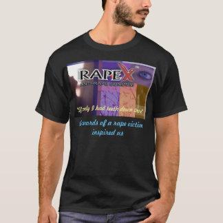 Camisa preta relativa à promoção de RapeX
