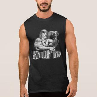 Camisa preta sem mangas do músculo de Ben Liftin