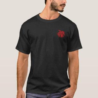 Camisa preta & vermelha de Berzerker do selo