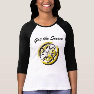 Camisa preto e branco do basebol do compasso tshirts