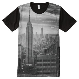 Camisa preto e branco na moda de New York