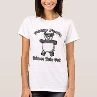 Camisa Pudgy da panda do vintage