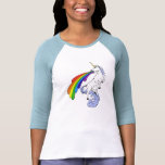 Camisa Puking do arco-íris T do unicórnio Camisetas