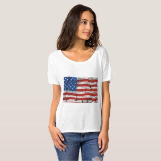 Camisa rachada da bandeira americana