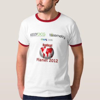 Camisa radical 2012 da excursão do planeta camiseta
