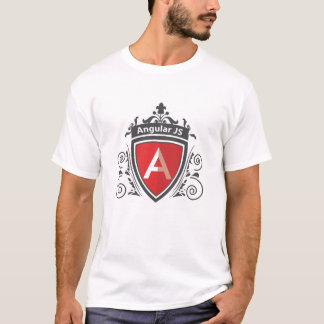 Camisa real do design T do vintage de AngularJS