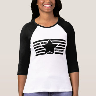 Camisa rebelde do Raglan das senhoras do logotipo