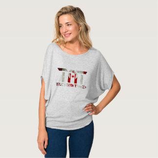Camisa relaxada do TNT das mulheres