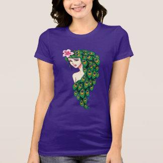 Camisa requintado do jérsei das mulheres da arte