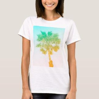 Camisa retro da palmeira de Ombre Los Angeles do